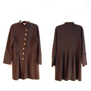Cabi Grab N Go Black Military Trench Coat Jacket